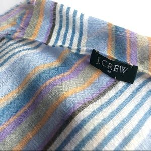 J Crew striped lightweight scarf